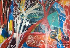 'Laying Roots'-The concept of laying down roots with the resources that we have across our lifetime #acrylics #art