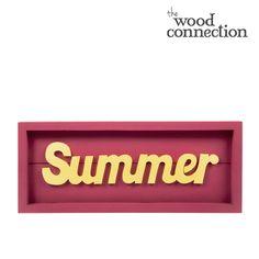Summer Sign #DIY #wood #craft #summer #bright #homedecor