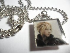 FFVII Cloud pendant on ball chain 18 inches by ReturnersHideout, $16.00