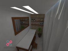 Sala para massagem e depilação.
