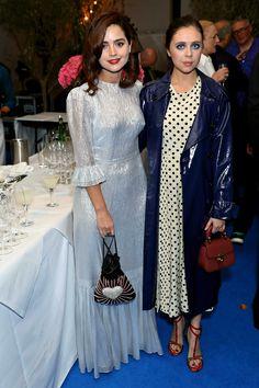 Jenna Coleman with Bel Powley at the Edward Enninful British Vogue Dinner, 07.11.2017.