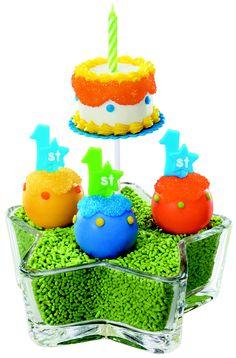 1st Birthday cake pops