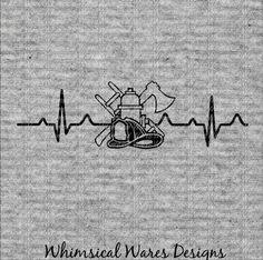 Heartbeat firefighter logo svg running svg heartbeat svg
