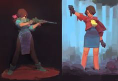 gungirls by nbekkaliev.deviantart.com on @DeviantArt