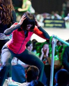"""Look world: America's First Lady can out-pole-dance YOUR First Lady! In what has to be the most mind-blowing picture of what NOT to do as First Lady, we have Michelle Obama entertaining the audience. You expect some ghetto chick to do something so crass, but not the First Lady. ... I pay no attention to these America-hating communists, but many people do, particularly young girls. If Michelle Obama can be so crass, well don't wonder why you see young girls """"shaking their money makers!"""" [...]"""