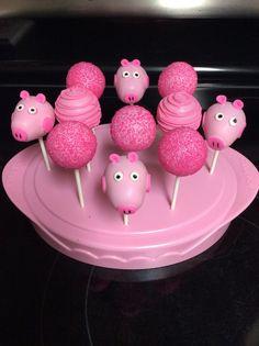 Peppa Pig cake pop for theme  birthday party