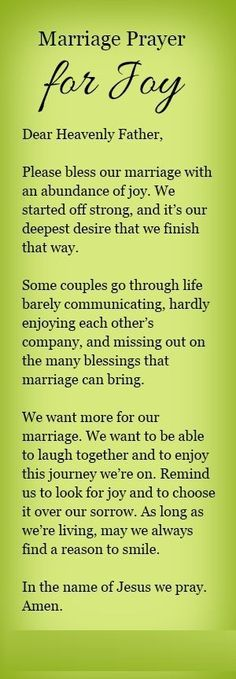 A marriage prayer for joy.