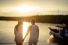 Couple, Romantic, Love, Sunset, Scene, Man, Woman