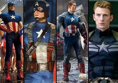"Captain America's different suits. I like his ""First Avenger"" and ""Avengers"" suits."
