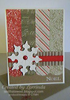 CTMH Mistletoe paper. Isn't That Sweet?!: Christmas Card
