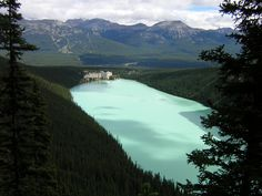 Lake Louise, Banff National Park in the summer