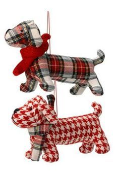Best Christmas tree ornaments: tartan dogs