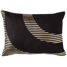 Nate Berkus Oblong Gold Foil Pillow