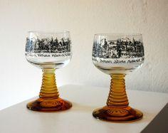 Set of 2 European German Vintage Antique by ZenVintageCollection