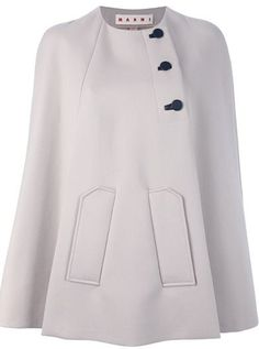 #Cape #Coat #White #Black ~Save this image and add this coat to your [WiShi] closet-a FREE virtual styling hub that allows you to request styling for special events with your own clothes, or create styles for other users! Click the image to start styling now <3