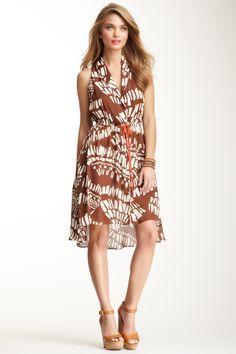 Corey Lynn Calter Verity Sleeveless Silk Shirt Dress <3