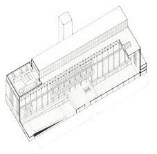 Cutaway Axo, Tate Modern, Herzog and de Meuron Turbine Hall, Section Drawing, How To Plan, Detail, Architecture, Modern, Architectural Presentation, Architectural Drawings, Cutaway