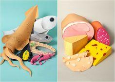 Alimentos de papel por María Laura Benavente Sovieri/ Paper food by María Laura Benavente Sovieri