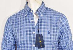 Ralph Lauren plaid slim fit oxford men long sleeve shirt size xxl NEW WITH TAGS #RalphLauren #ButtonFront