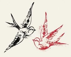 Swallow Tattoos. Like the red one in black ink.
