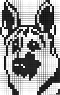 Knitting charts dog perler beads 19 new ideas Alpha Patterns, Loom Patterns, Beading Patterns, Crochet Patterns, Knitting Patterns, Knitting Ideas, Crochet Pixel, Crochet Chart, Dog Pattern