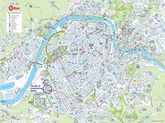 Caen city center map Maps Pinterest City and France