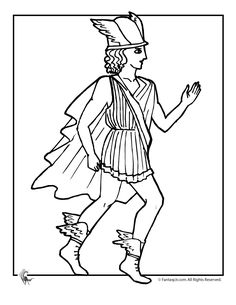 ATHENA the Greek goddess of wisdom coloring page