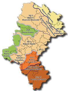 GeoŚląsk - Fizycznogeograficzne makroregiony województwa śląskiego - GeoSilesia