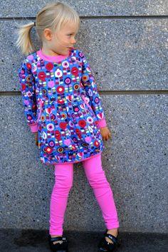 mallikelpoinen: Kerhovaatetta syksyyn lillestoff, dress, ottobre kids, leggings, folklore