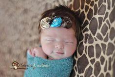 Pocahontas Inspired Headband-Baby Girl Headband-Newborn Headband-Infant Headband-Baby Headband-Rosette Headband-Photo Prop-Toddler Headband. $14.00, via Etsy.