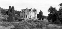 Old photograph of Glengarry Castle in the Great Glen,  Scotland . This castle, in the Scottish Highlands, is now a hotel. Clan MacDonell of...