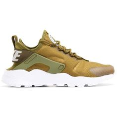 Nike Nike Air Huarache Run Ultra Sneakers (2.585 CZK) ❤ liked on Polyvore featuring shoes, sneakers, nike footwear, nike, nike shoes, brown shoes and brown sneakers