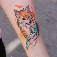 Znalezione obrazy dla zapytania lis tatuaż