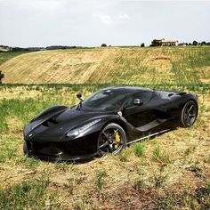 @powerslidelover and his #black #LaFerrari! #Autogespot