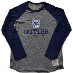 Boys Butler Bulldogs Baseball Tee in Heather Grey (Size 4)