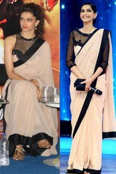 Sonam ji - White beauty of India. Sonam Kapoor, Deepika Padukone, Indian Dresses, Indian Outfits, Saree Jewellery, Sari Design, Saree Blouse Neck Designs, Indian Designer Suits, Stylish Sarees