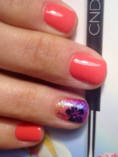 Hawaiian nail art by Mayra Dominguez - poshdigits.com  Love them!