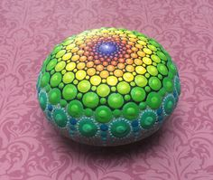 Dazzling Ocean Stones Meticulously Covered in Colorful Tiny Dots - My Modern Met