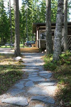 Lake Landscaping, Garden Paths, Sidewalk, Cottage, Patio, Landscape, Summer, House, Gardening