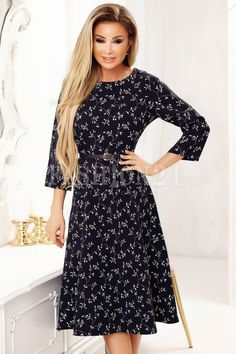 Rochii de vara inflorate - Rochie Simona inflorata in clos cu accesoriu Cold Shoulder Dress, Dresses With Sleeves, Long Sleeve, Stuff To Buy, Fashion, Moda, Sleeve Dresses, Long Dress Patterns, Fashion Styles