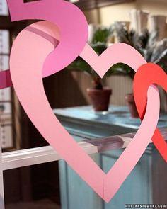 Valentines Day Heart Garland DIY By Martha Stewart