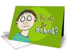Back To School Best Wishes card!! Feeling a bit overwhelmed at going back to school??? Humorous!