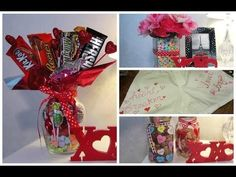 How to Make a Candy Bouquet with M&M's and Snickers: A Touch of Sparkle by Monica Tutorial HD - YouTube
