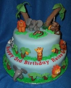 87 Best Cakes Jungle Book Images Jungle Cake Birthday Cakes