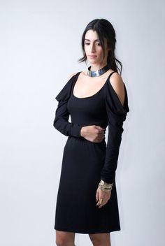 Party Dress / Black Cocktail Dress / Sheath Dress  by marcellamoda, $75.00