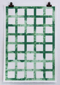 Green Trellis Print / $100 / Print Club Boston