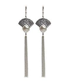 VIV & INGRID | Cleo Earrings Silver & White