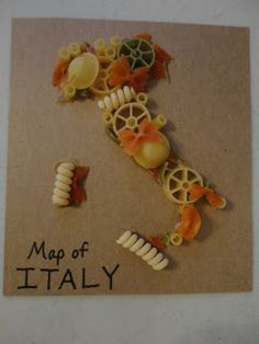Spark and All - Pasta Art - Projects to Try - Pasta Rezepte School Projects, Art Projects, Projects To Try, Pasta Kunst, Italy Geography, Preschool Crafts, Crafts For Kids, Italy For Kids, Pasta Art