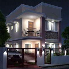 25 most popular modern dream house exterior design ideas 6 Two Story House Design, 2 Storey House Design, Duplex House Design, Simple House Design, House Front Design, Modern House Design, Style At Home, Philippines House Design, Philippine Houses