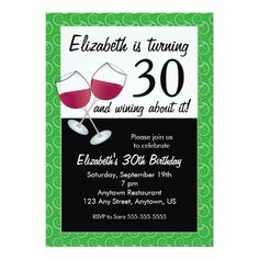 Funny 30th Birthday Wine Party Card Free Printable Invitations Templates 60th